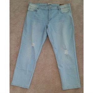NWT Route 66 Distressed Jeans Relaxed Girlfriend
